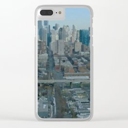 View of New York Clear iPhone Case