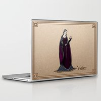 valar morghulis Laptop & iPad Skins featuring Vaire by wolfanita