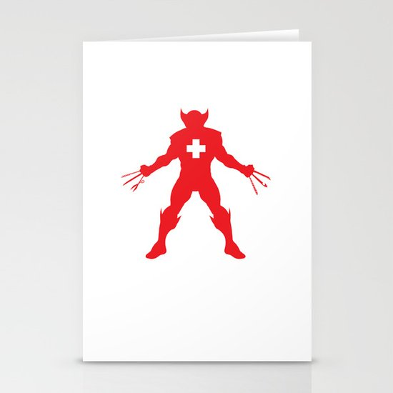 Weapon-Swiss Stationery Cards