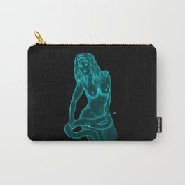 Female Nude with Snake  Carry-All Pouch