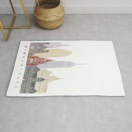 Minneapolis skyline poster Rug