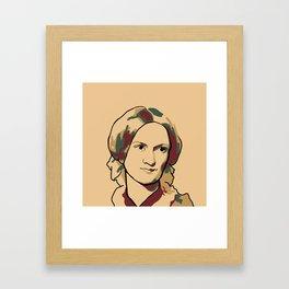 Charlotte Brontë Framed Art Print