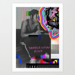 Yamborghini High A$AP Rocky Art Print