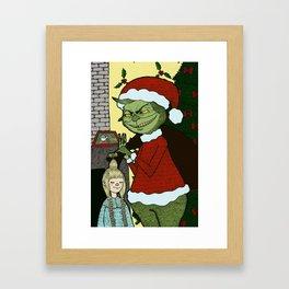 Grinch Framed Art Print