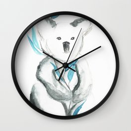 Koala baby, eucalyptus leaves Wall Clock