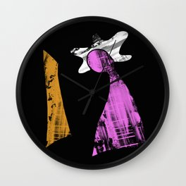 Perplexed - Abstract, pastel artwork Wall Clock