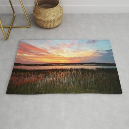 Sunset And Reflections Rug
