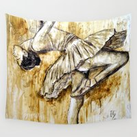 ballerina Wall Tapestries featuring Ballerina by Iván Guaderrama