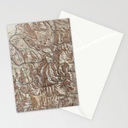 Vintage Map of The White Mountains (1870) Stationery Cards