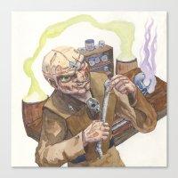 lab Canvas Prints featuring Necromancer's Lab by Sean Greenberg Illustration