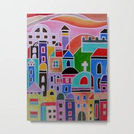 Mexican Guanajuato Colorful Town  Metal Print
