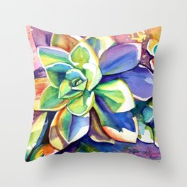 Sunny Day Succulents Throw Pillow