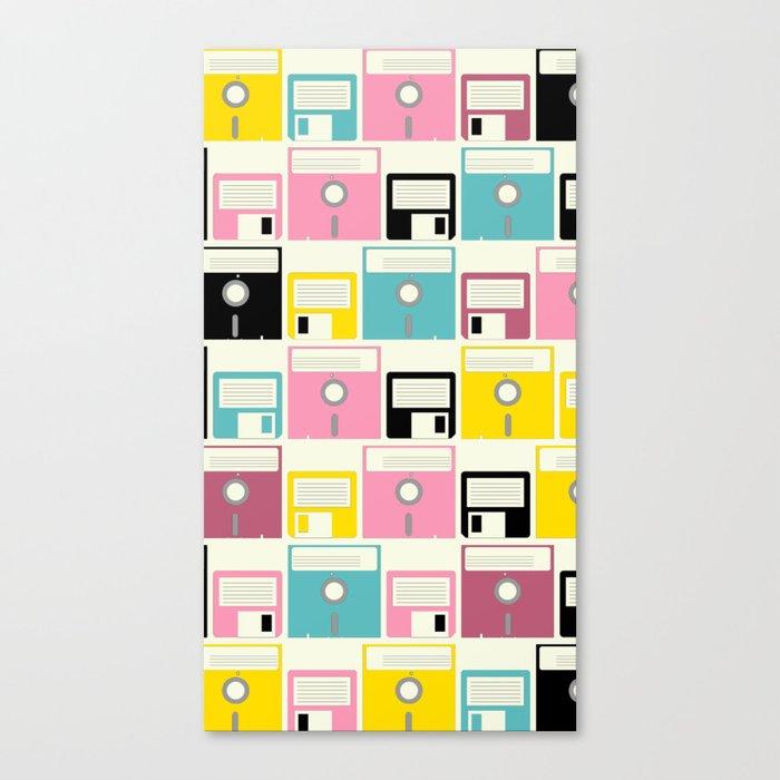 Bright Floppy Disc Canvas Print