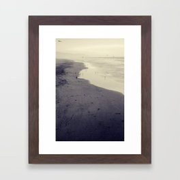 beach nostalgia Framed Art Print