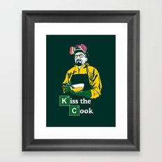 Kiss the Cook Framed Art Print