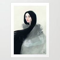 witch Art Prints featuring Witch by Ulfvidh