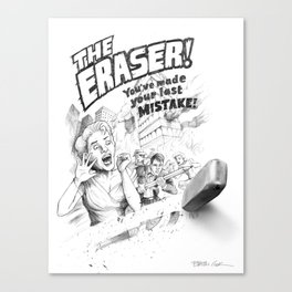 The Eraser Canvas Print
