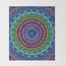 Magical Gems Kaleidoscope Throw Blanket