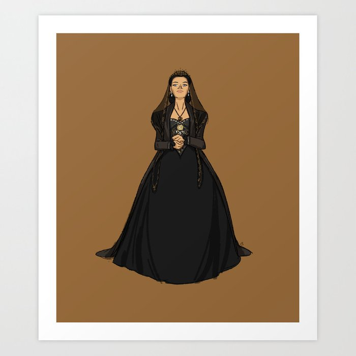 Catherine of Aragon - first Henry VIII wife Art Print