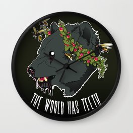 The World Has Teeth Wall Clock