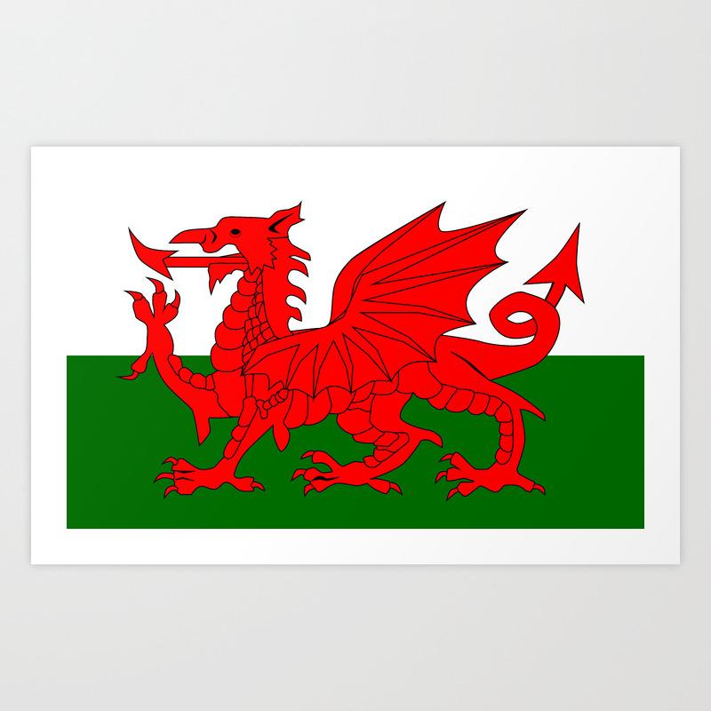 Welsh Dragon Flag Art Print By Homestead Society6