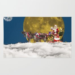 Santa and His Sleigh Rug