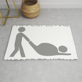 Fat People Are Harder To Kidnap FUNNY Rug