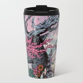 Journeying Spirit (deer) sunset Travel Mug