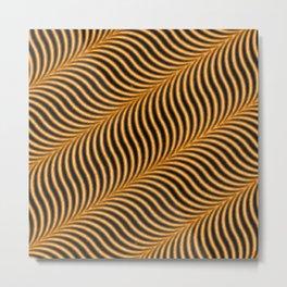 Orange waves Metal Print