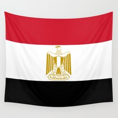 National flag of Egypt, Authentic version in scale and color (High Quality) Wall Tapestry