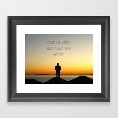 Try Not to Worry... Framed Art Print