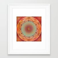 chakra Framed Art Prints featuring Sacral Chakra by brenda erickson