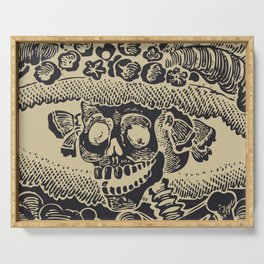 Calavera Catrina | Skeleton Woman | Anthracite and Soybean | Serving Tray