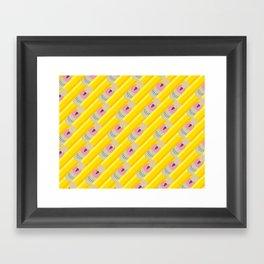 Pencil Pattern Framed Art Print