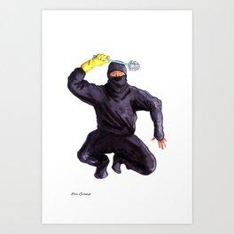 Bathroom Ninja Art Print