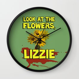 Look At The Flowers, Lizzie#2 Wall Clock