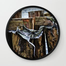 Tattered And Torn Wall Clock