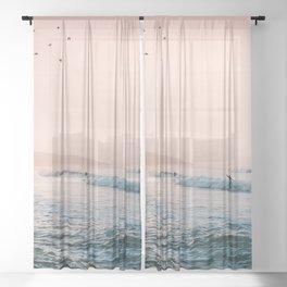 Sunset Surf Sheer Curtain