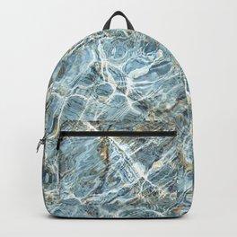 Blue Water Waves Backpack