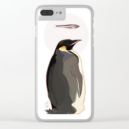 Emperor Penguin Clear iPhone Case