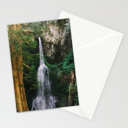 waterfall in Washington forest Stationery Cards