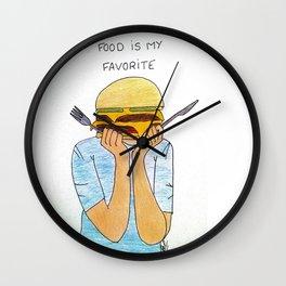 Food is my favorite Wall Clock