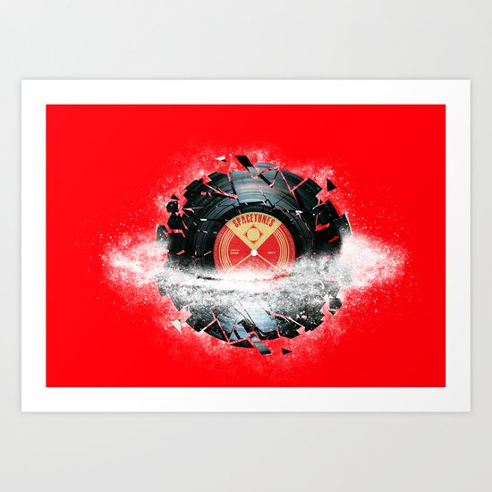 Breaking The Space Tune Art Print