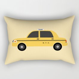 New York City, NYC Yellow Taxi Cab Rectangular Pillow