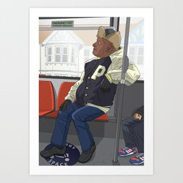 Mr P on the No. 5 Art Print