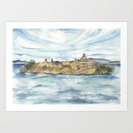 Uros islands Art Print