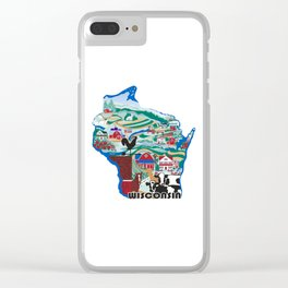 Wisconsin Country Sampler Clear iPhone Case
