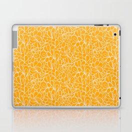 Retro Flowers in yellow Laptop & iPad Skin