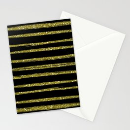 gold stripes Stationery Cards