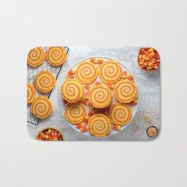 Halloween Candy Corn Cookies Bath Mat